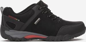 Czarne buty sportowe born2be sznurowane