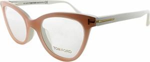Brązowe okulary damskie Tom Ford