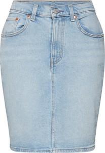 Niebieska spódnica Levis z jeansu