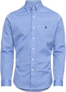 Niebieska koszula POLO RALPH LAUREN z klasycznym kołnierzykiem z bawełny