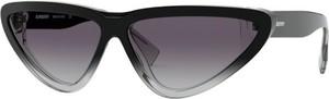 Granatowe okulary damskie Burberry