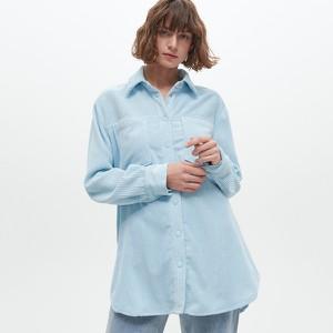 Niebieska koszula Reserved ze sztruksu