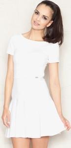 Sukienka Figl z okrągłym dekoltem z krótkim rękawem