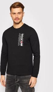 Czarny t-shirt Tommy Jeans z bawełny z długim rękawem