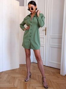 Zielona sukienka SELFIEROOM mini w stylu casual