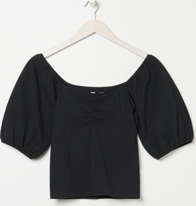 Czarna bluzka Sinsay z krótkim rękawem