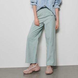 Turkusowe spodnie Reserved w stylu retro
