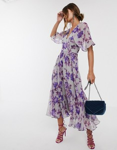 Sukienka Asos Design maxi z krótkim rękawem
