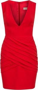 Sukienka MARLU mini bez rękawów z dekoltem w kształcie litery v