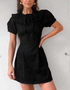 Sukienka Asos z okrągłym dekoltem mini w stylu casual