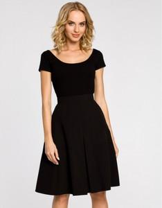 Czarna spódnica MOE midi