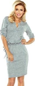 Sukienka NUMOCO w stylu casual z długim rękawem z dekoltem w kształcie litery v