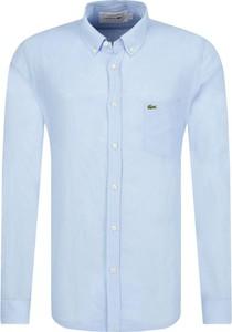Koszula Lacoste z lnu w stylu casual z długim rękawem