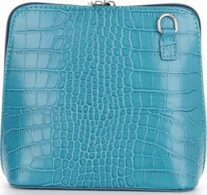 Niebieska torebka VITTORIA GOTTI ze skóry
