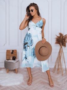 Niebieska sukienka Dstreet na ramiączkach midi z dekoltem w kształcie litery v