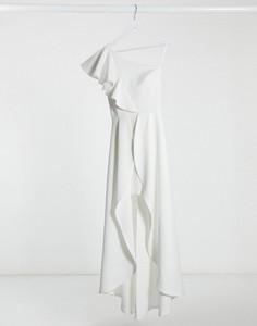 Sukienka True Violet asymetryczna maxi