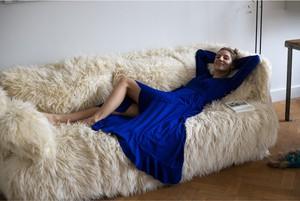 Niebieska sukienka RISK made in warsaw