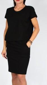 Sukienka Collibri ołówkowa z krótkim rękawem z okrągłym dekoltem