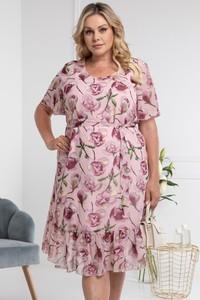 Sukienka KARKO z krótkim rękawem z tkaniny mini