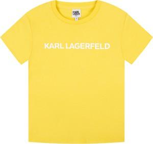 Żółta koszulka dziecięca Karl Lagerfeld