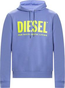 Niebieska bluza Diesel z bawełny w młodzieżowym stylu