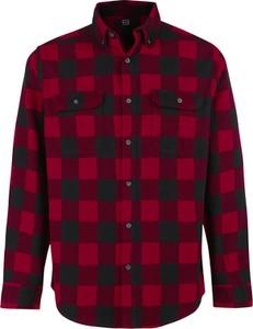 Czerwona koszula Emp z klasycznym kołnierzykiem