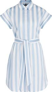 Niebieska sukienka Tommy Hilfiger koszulowa w stylu casual