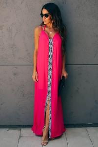 Sukienka Ivet.pl z dekoltem w kształcie litery v w stylu casual