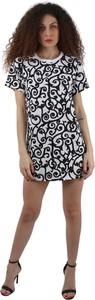 Sukienka Moschino z okrągłym dekoltem w stylu casual mini