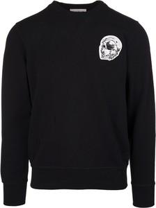 Sweter Alexander McQueen z nadrukiem w młodzieżowym stylu z okrągłym dekoltem