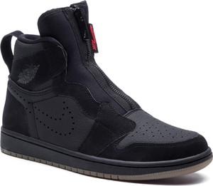 Granatowe buty sportowe Nike ze skóry ekologicznej