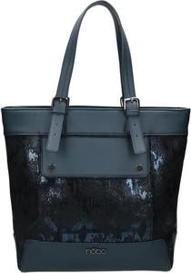Granatowa torebka NOBO na ramię w stylu casual duża