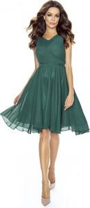 Sukienka Kartes-moda midi bez rękawów z szyfonu