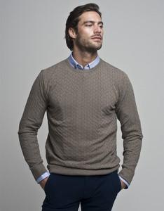 Brązowy sweter Borgio z wełny