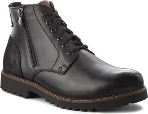 Czarne buty zimowe Quazi ze skóry