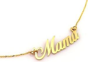 Lovrin Złoty naszyjnik 585 zawieszka Mama literki 2,42 g