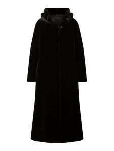 Czarny płaszcz Pm w stylu casual