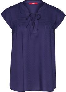 Niebieska bluzka S.Oliver Red Label z krótkim rękawem