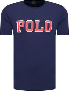 Niebieski t-shirt POLO RALPH LAUREN z krótkim rękawem