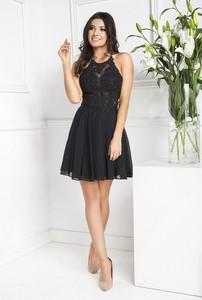 Czarna sukienka Marcelini z szyfonu
