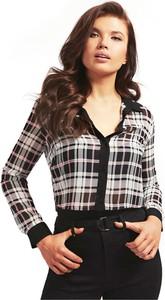 Koszula Guess w stylu casual z tkaniny z długim rękawem