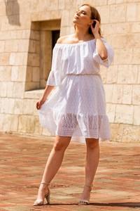 Sukienka KARKO z długim rękawem mini rozkloszowana