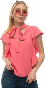Różowa bluzka Red Valentino z okrągłym dekoltem
