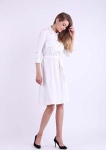 Sukienka Nommo z długim rękawem szmizjerka z bawełny