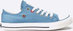Błękitne trampki Big Star w młodzieżowym stylu z tkaniny
