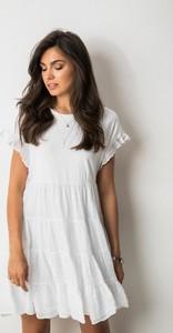 Sukienka Mihos z krótkim rękawem z bawełny mini