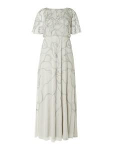 Miętowa sukienka Christian Berg Cocktail z krótkim rękawem maxi rozkloszowana