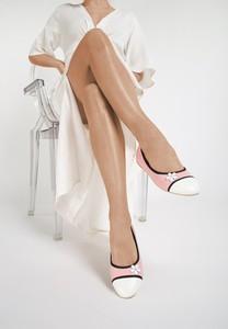 Różowe baleriny renee w stylu casual