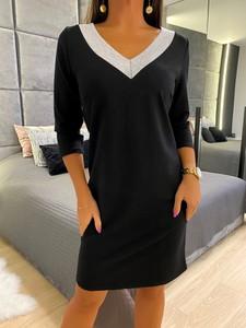 Sukienka ModnaKiecka.pl z bawełny w stylu casual mini