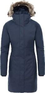 Niebieska kurtka The North Face z bawełny